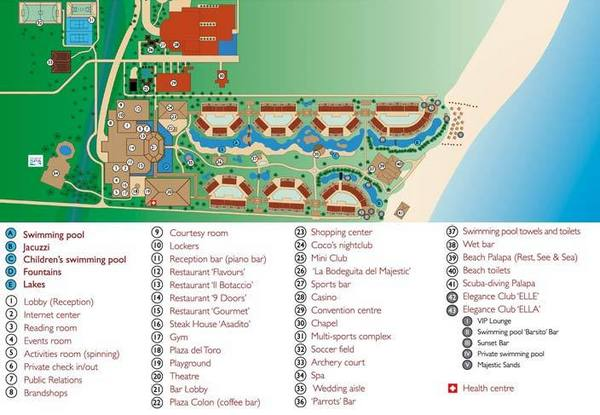 Majestic Elegance Punta Cana Property Map