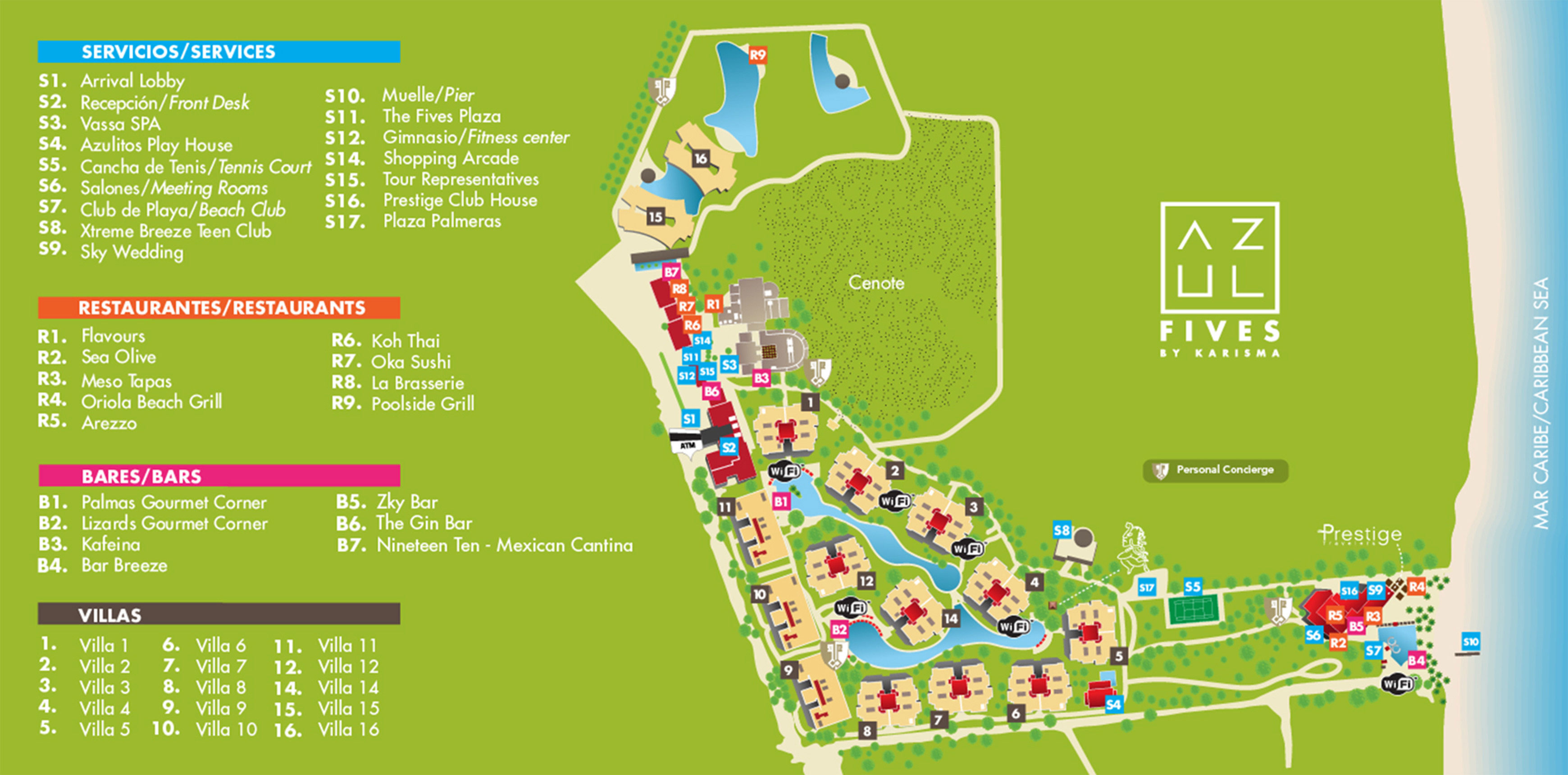 All Inclusive Resorts Riviera Maya Map