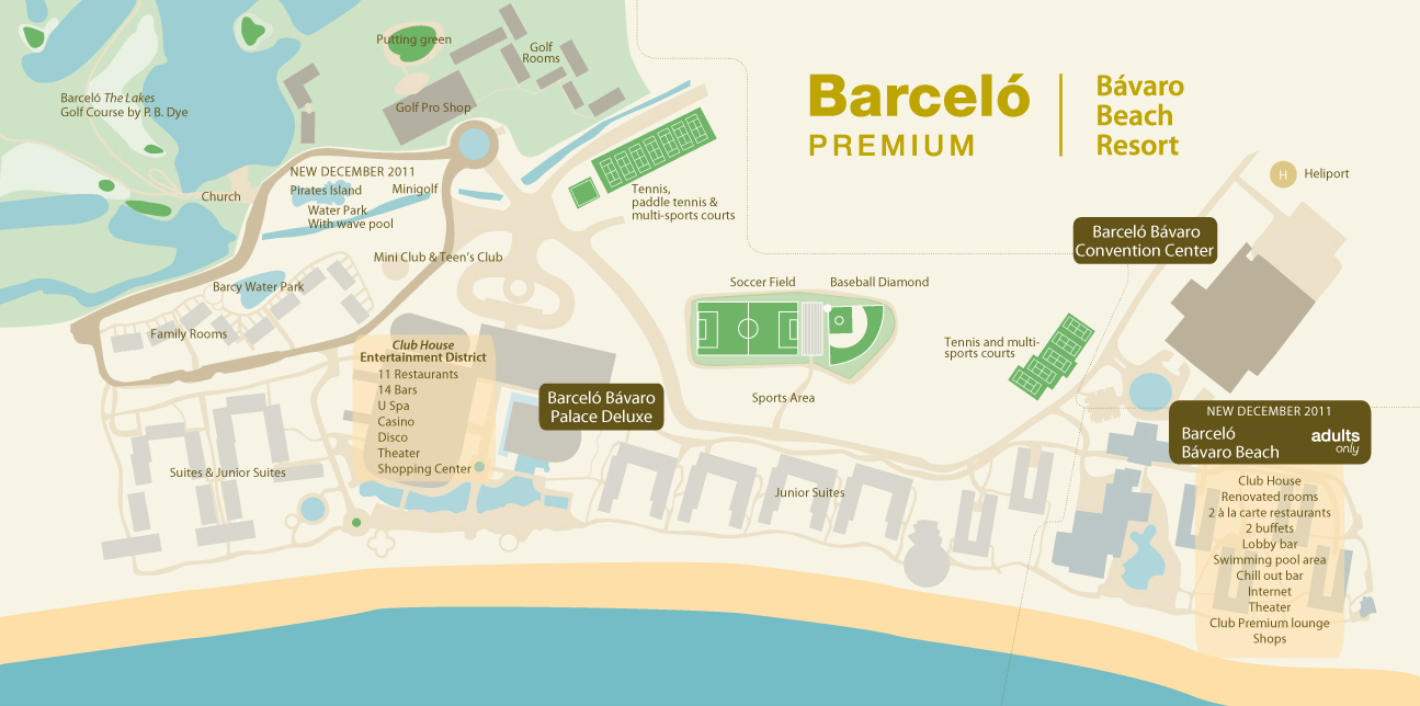 Resort Map Barcelo Bavaro Beach Travel By Bob