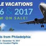 Philadelphia Non-Stop Charter Schedule Holiday 2016 & Winter 2017