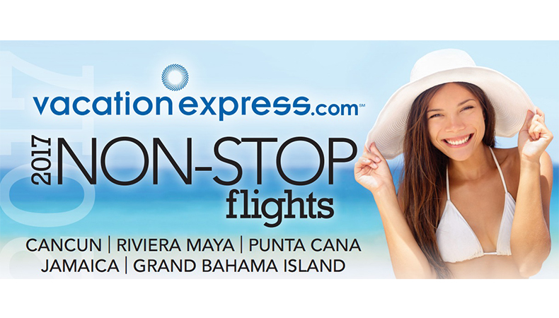 Vacation Express | 2017 Non-Stop Charter Schedule