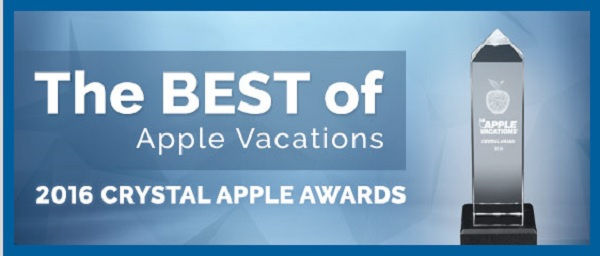 Apple Vacations 2016 Crystal Apple Awards