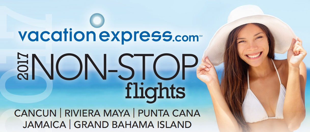 Vacation Express 2017 Non-Stop Charter Schedule