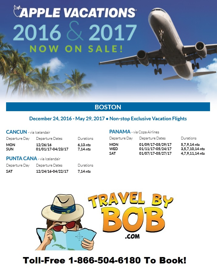 Apple Vacations 2017 Non Stop Charter Schedule Travel