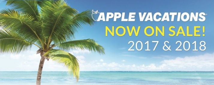 Apple Vacations 2018 Non-Stop Charter Schedule