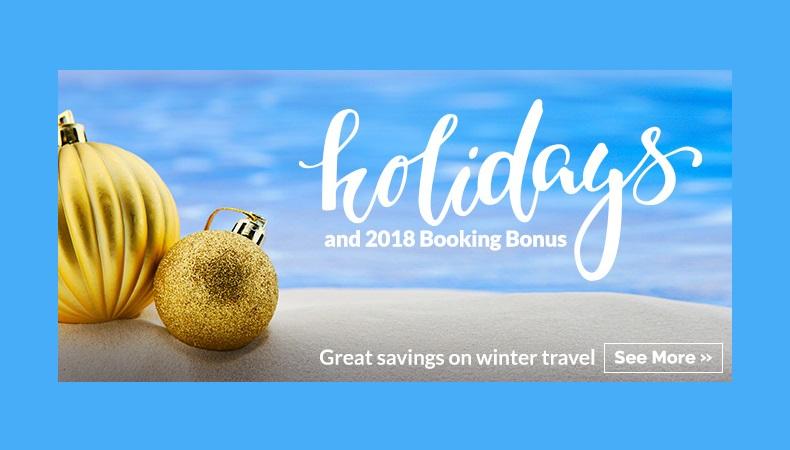 Holiday Vacation Deals to Mexico & Caribbean