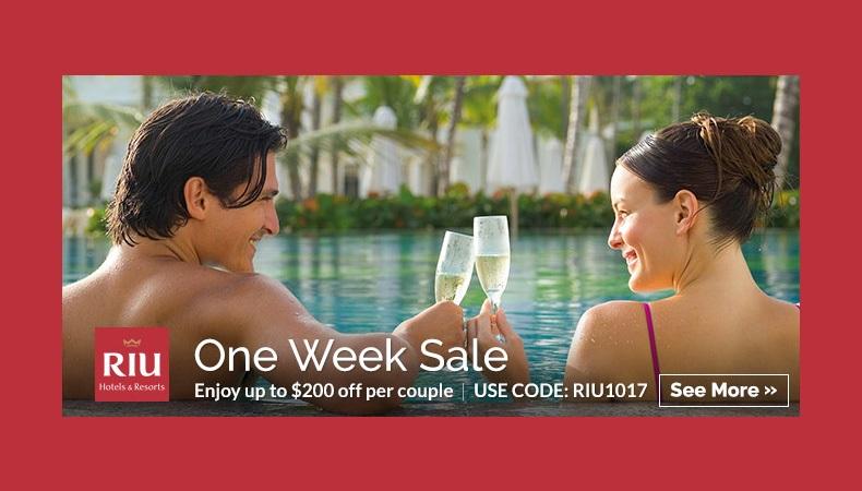 RIU Hotels & Resorts ~ One Week Sale!