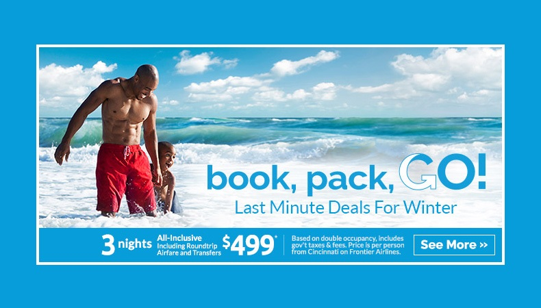 Last-Minute Deals to Mexico & the Caribbean!