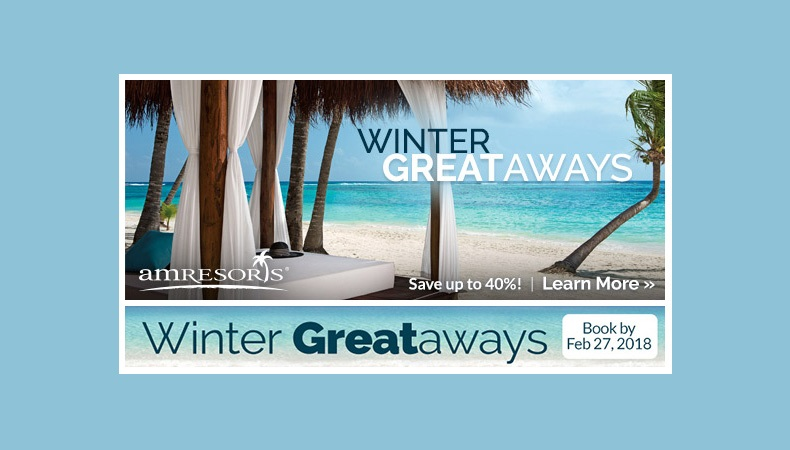 Save on Winter Vacation Deals to AM Resorts!