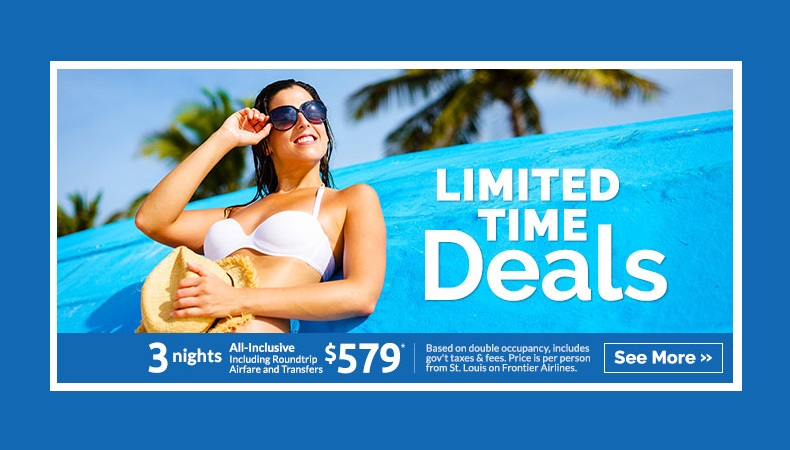 Limited Time Deals to Mexico & the Caribbean!