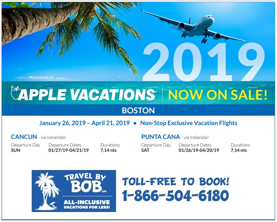 Apple Vacations 2018 2019 Non Stop Charter Schedules
