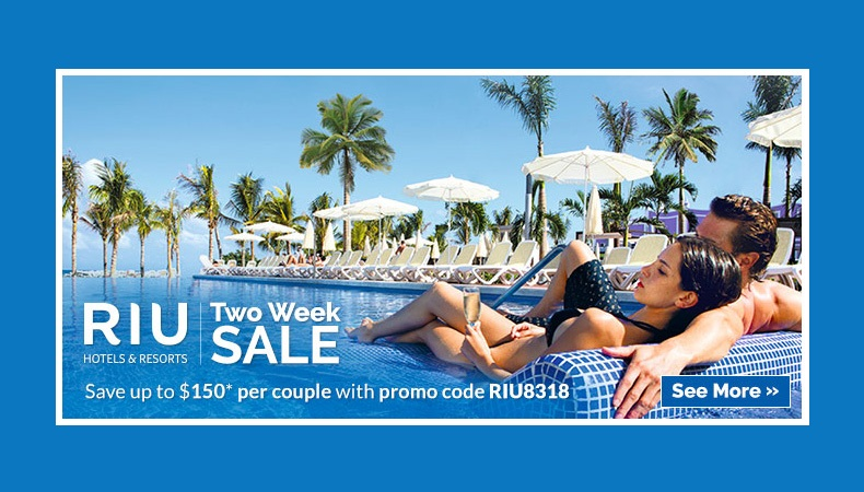 RIU Resorts On Sale   Two Week Sale