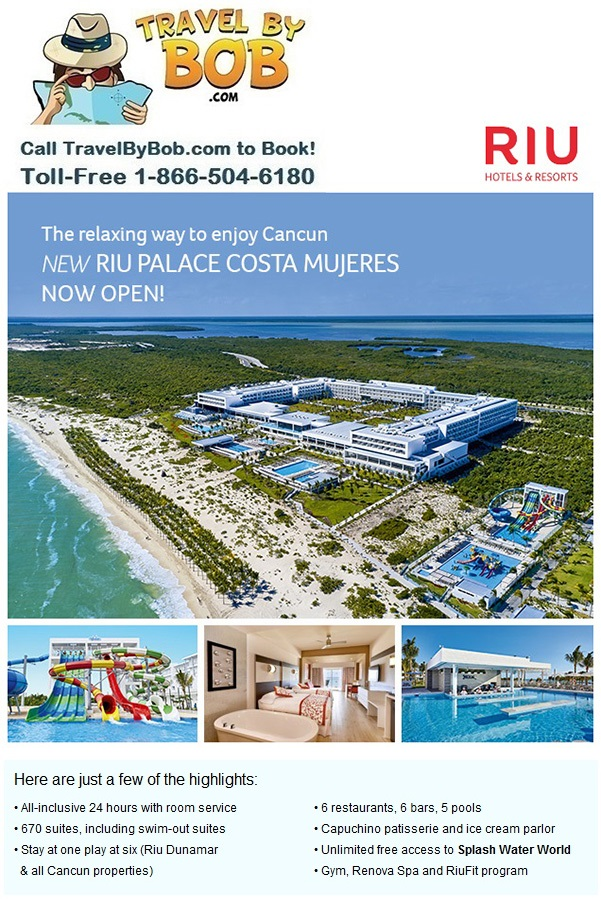 New Resort Riu Palace Costa Mujeres Travel By Bob