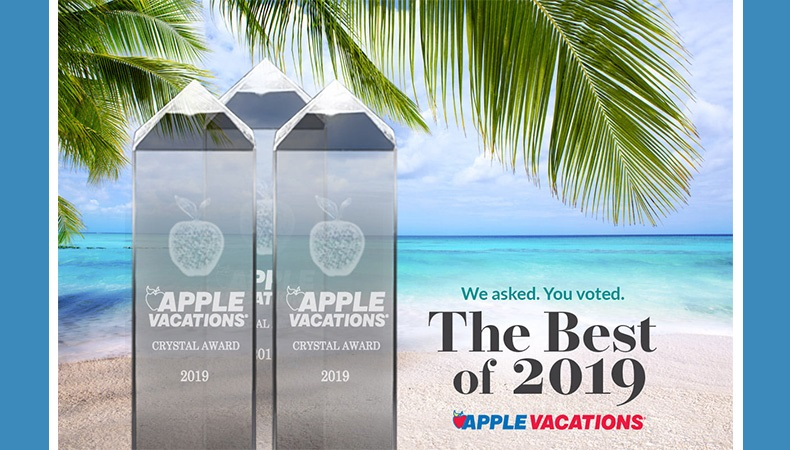 Apple Vacations Announces 2019 Crystal Apple Awards!
