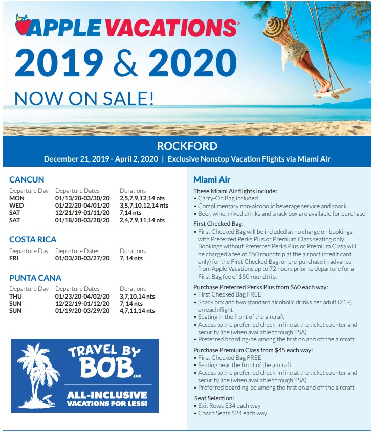 Apple Vacations Holiday 2019 Amp 2020 Non Stop Charter