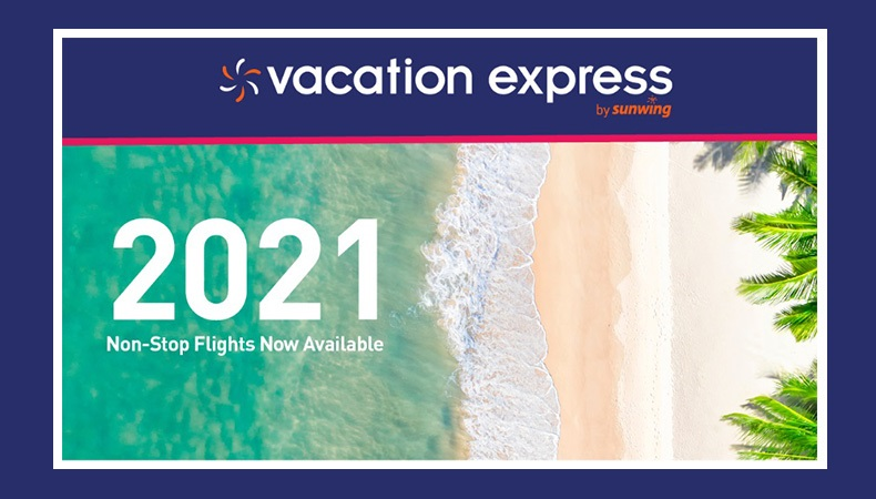 Vacation Express 2021 Non-Stop Charter Schedule