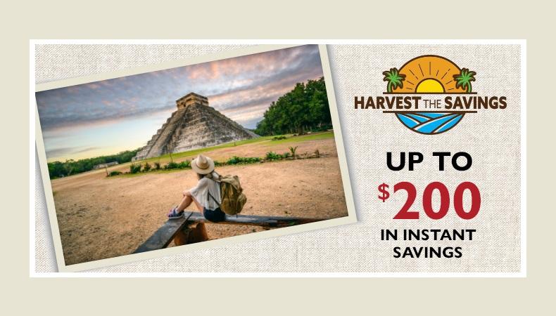 Harvest the Savings | Apple Vacations