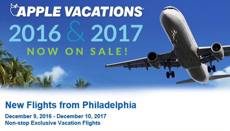 Philadelphia Non-Stop Charter Schedule | Holiday 2016 & Winter 2017